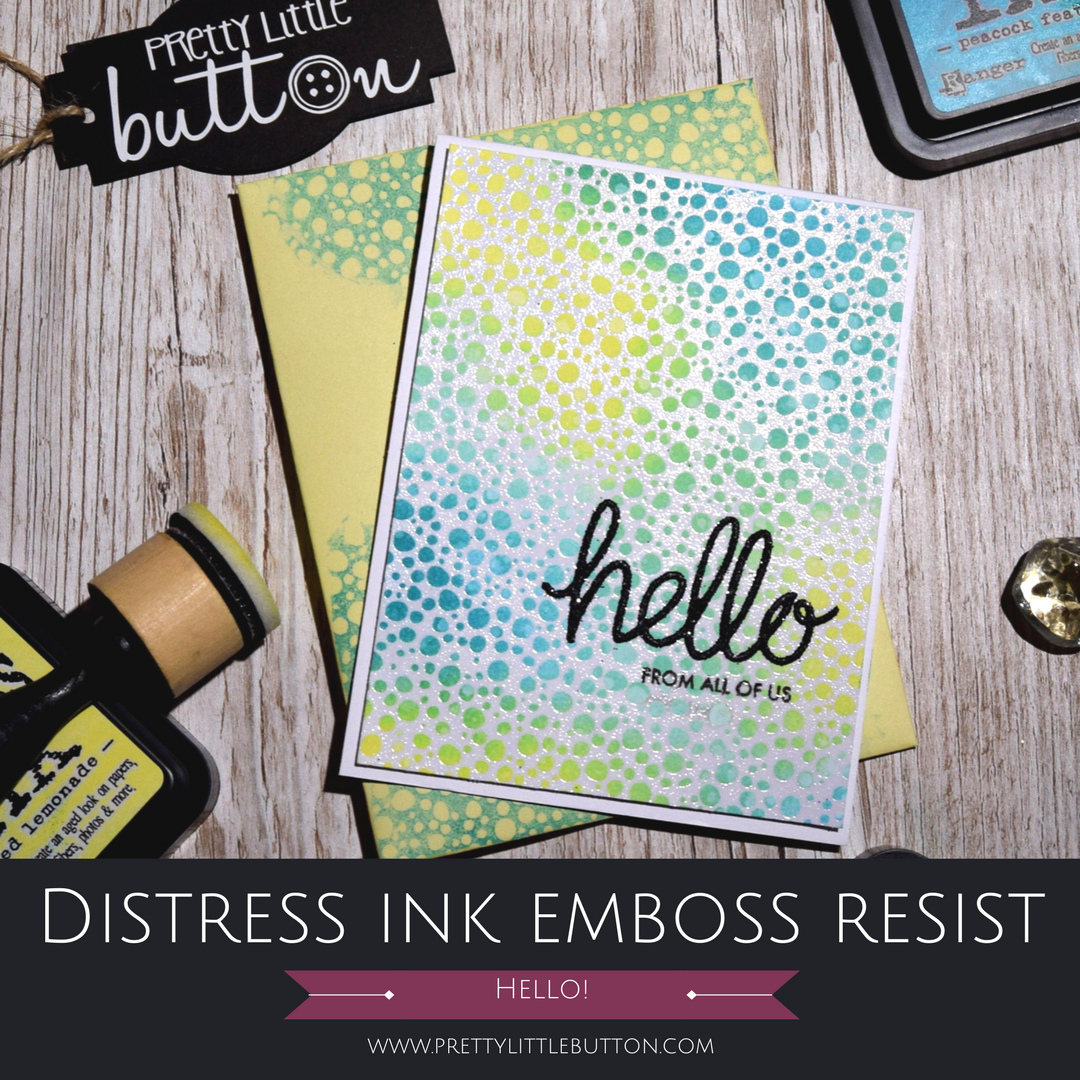 Distress Ink Emboss Resist Background