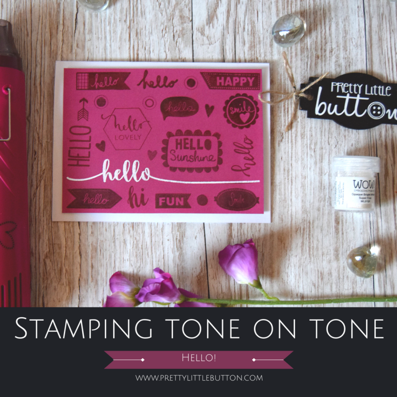 Stamping tone on tone background