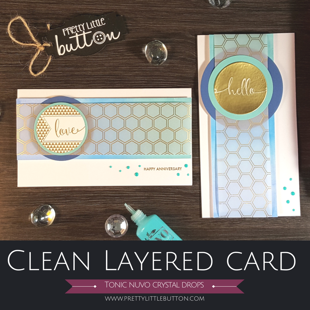 Clean layered card with tonic crystal drops