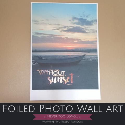 Foiled Photo Wall Art