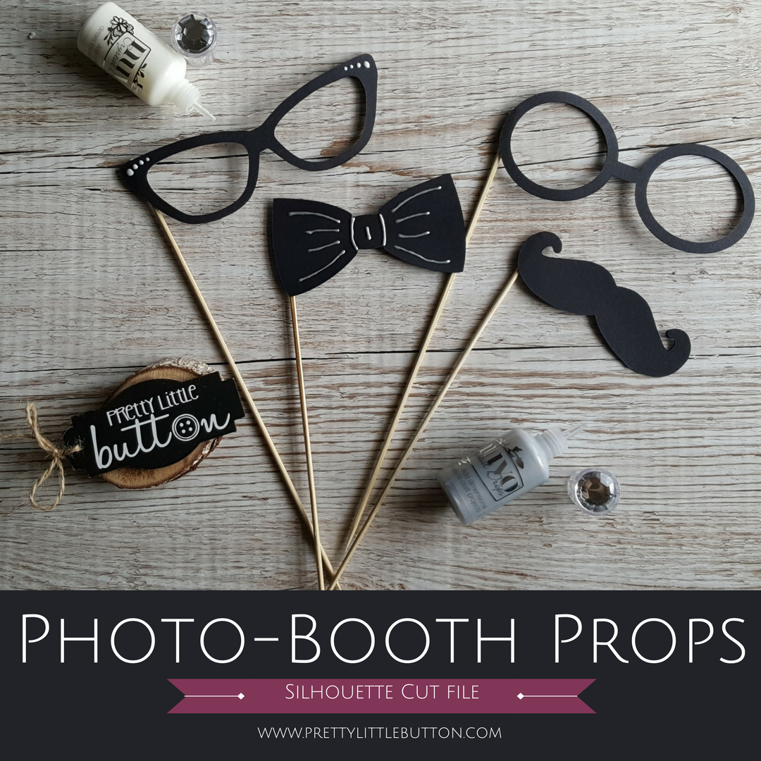 Photo-booth Props – Silhouette Cut file