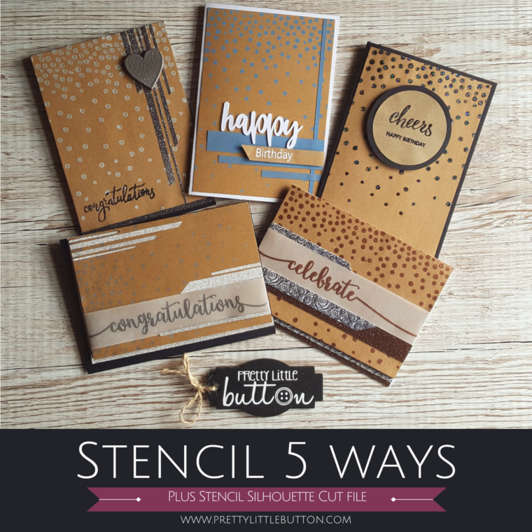 Stencil 5 ways – Confetti Background