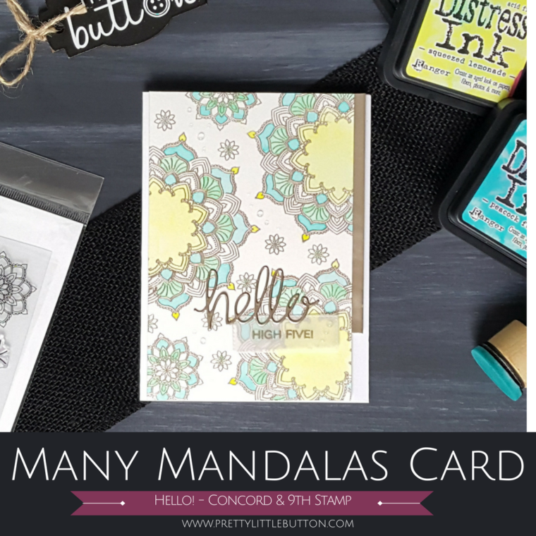 Many Mandalas Concord & 9th Stamp Card