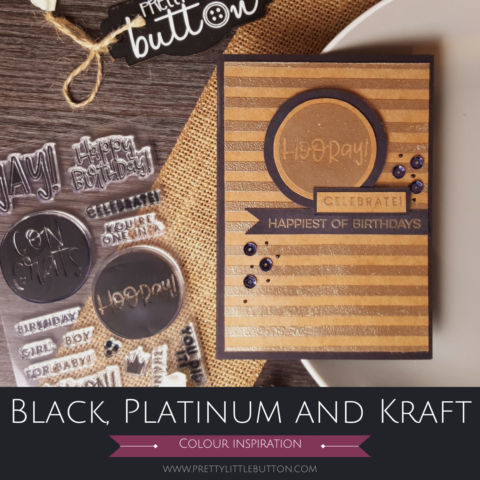 Colour inspiration: Black, Platinum and Kraft