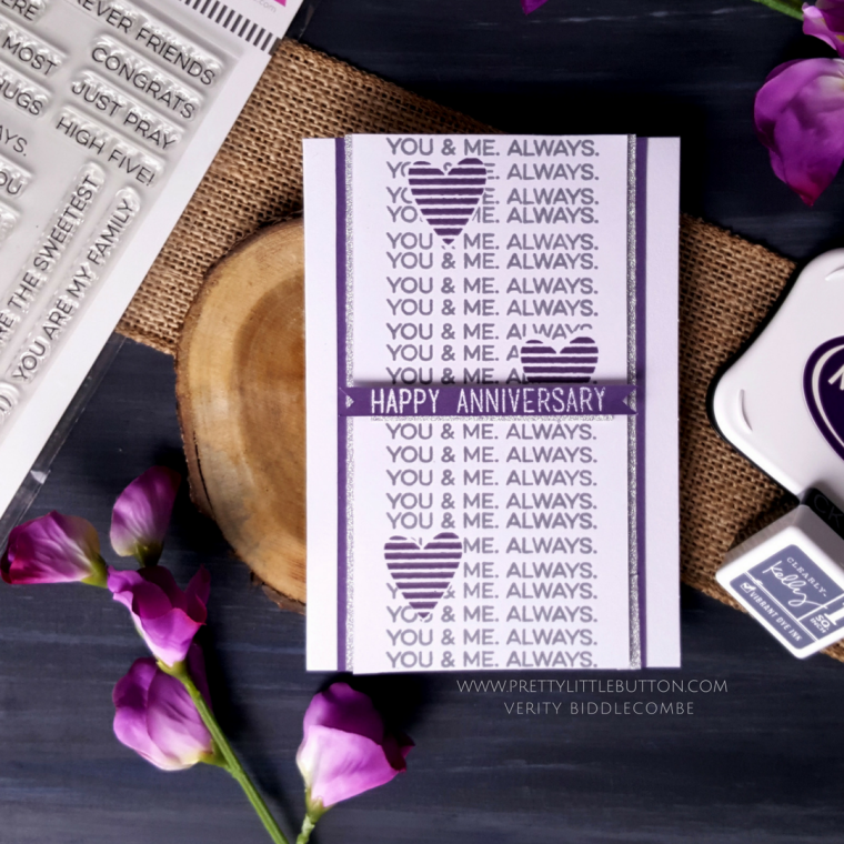 Masking with stamps – Happy Anniversary