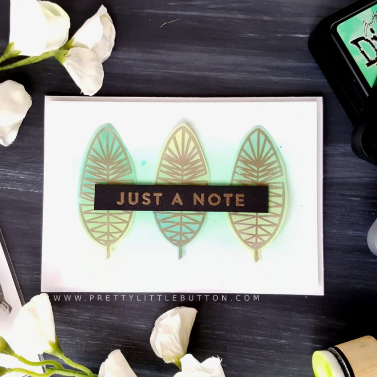Faux Metal Embossed resist – Just a note