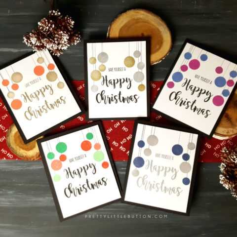 Simple stamped bauble card: back to basics