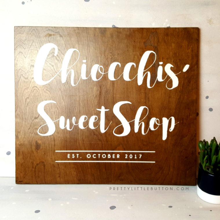 Sweet shop sign – Wooden Decor