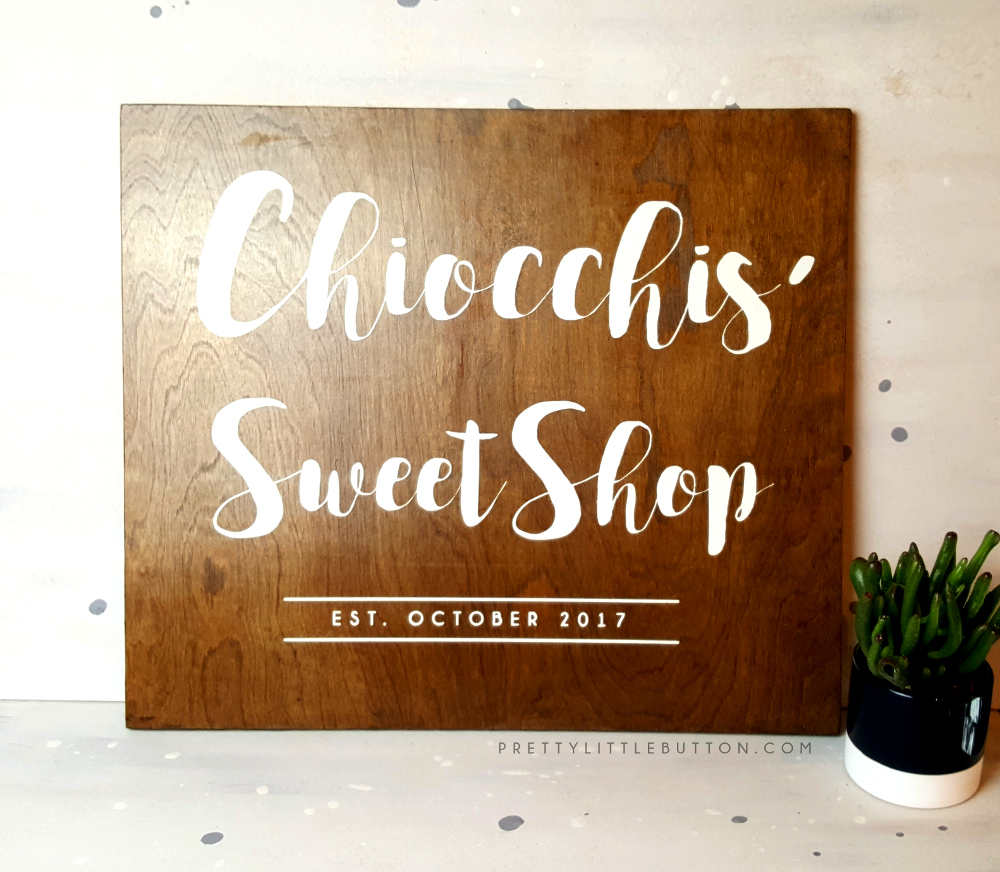 Sweet shop sign – Wooden Decor
