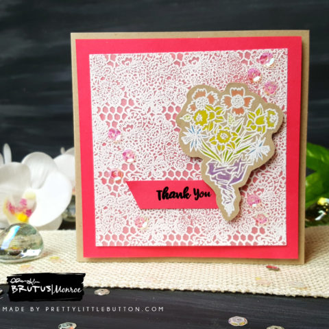Brutus Monroe: Floral Thank You Notelet