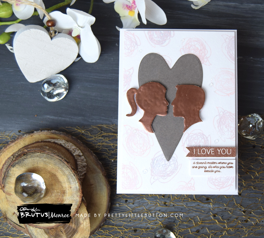 Brutus Monroe: I love you abstract art valentines card