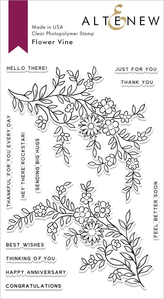 Flower Vine Stamp - Altenew