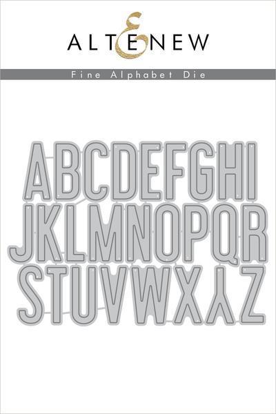Fine alphabet die - Altenew