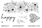 Spring Delights Floral Sprig - Julie Hickey Designs