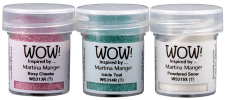 Winter Dreams Trio (Powdered Snow, Icicle Teal, Rosy Cheeks) - WOW! Embossing Powder