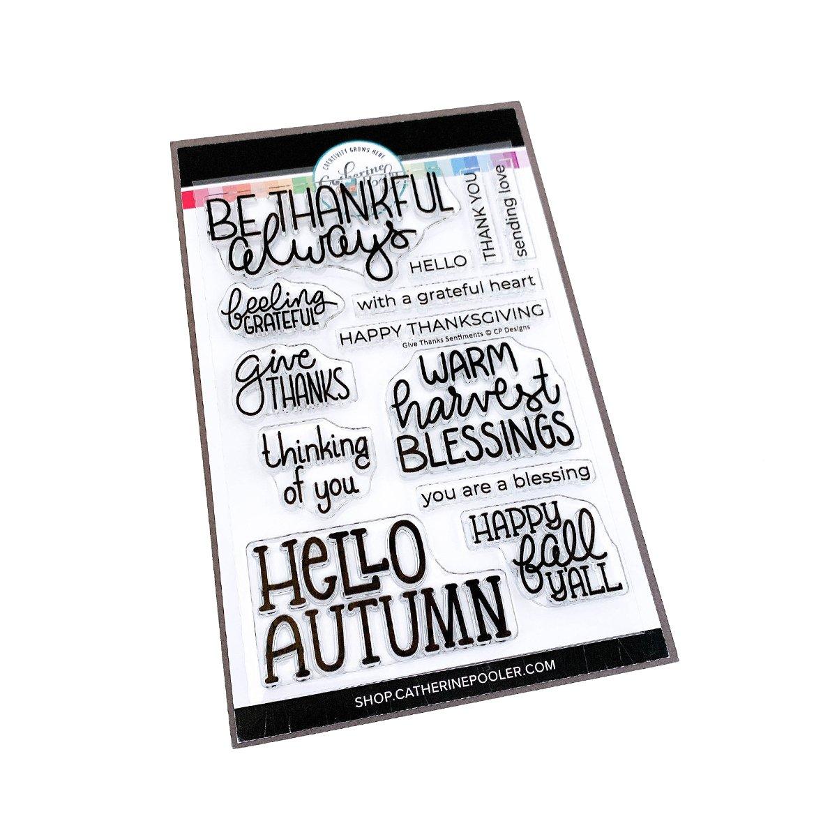Give Thanks Sentiments stamp set - Catherine Pooler Designs