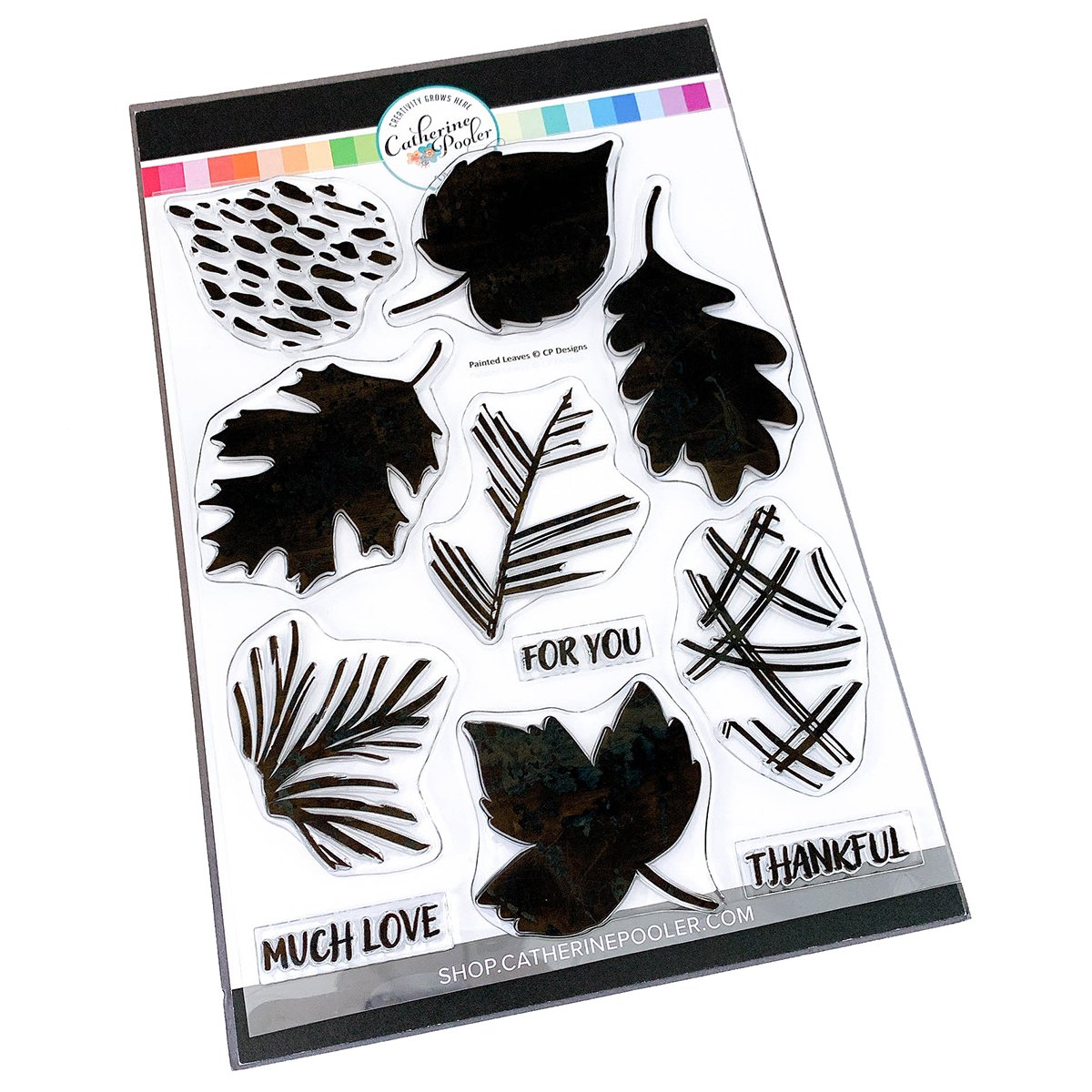 Painted leaves stamp set  - Catherine Pooler Designs
